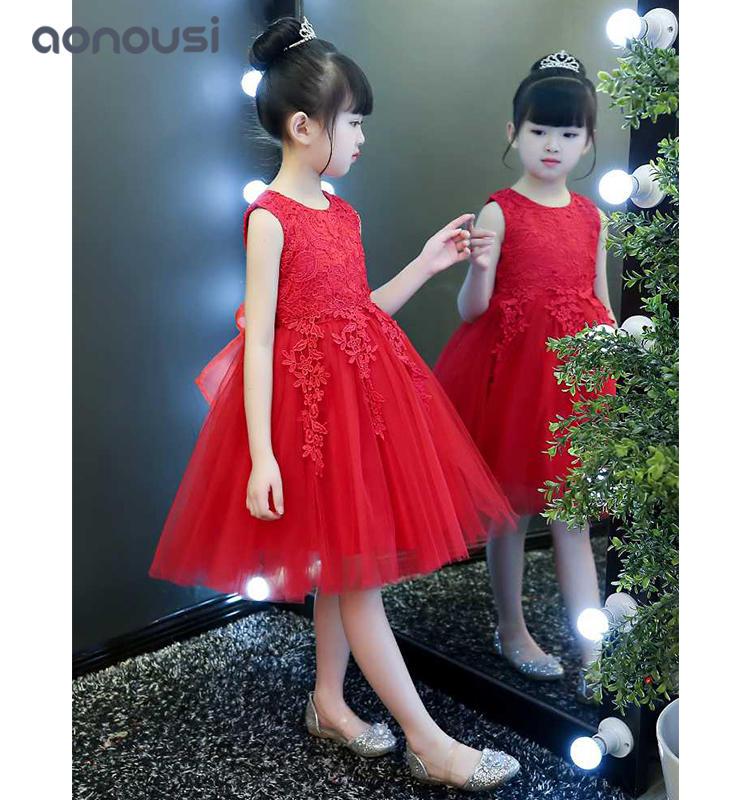 kids evening dresses princess dresses Flower girls wholesale  dress Piano performance dress small host evening dress