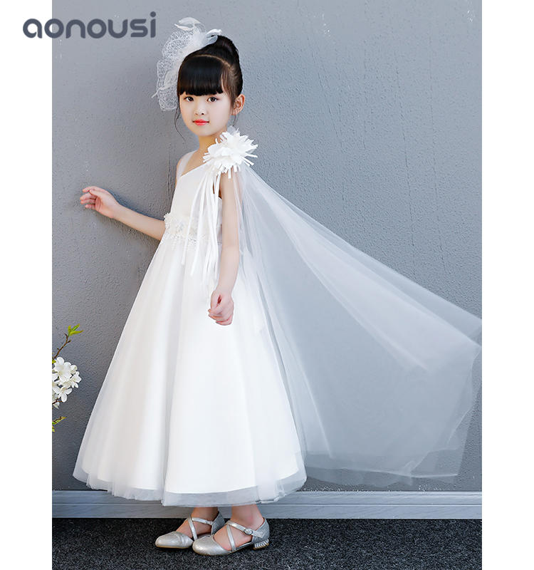 Princess dresses summer white wedding lace dresses flower lovely party dresses wholesale girls clothing china