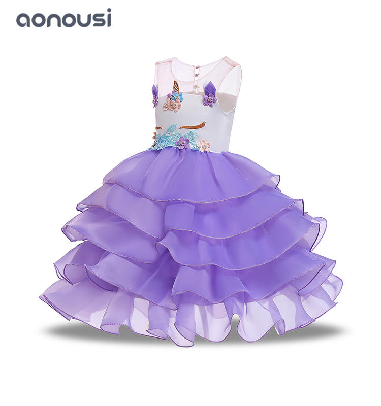 Girl dresses 2019 new style unicorn kids suits dresses girls boutique wholesale