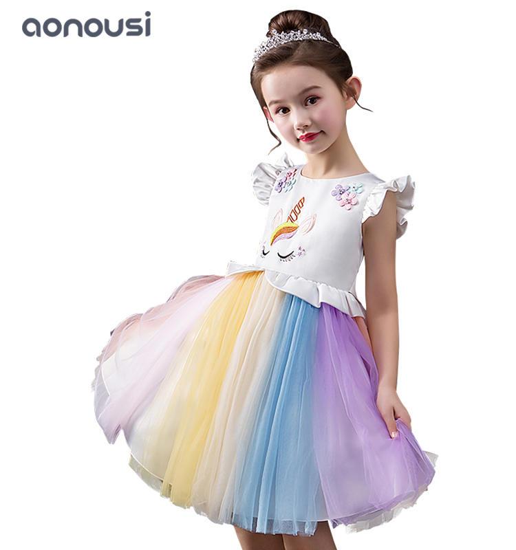 Princess dresses 2019 new style lace colorful bubble evening dresses girls wholesale