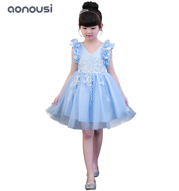 Children princess dresses girls performance clothing hosts dresses girls wholesale
