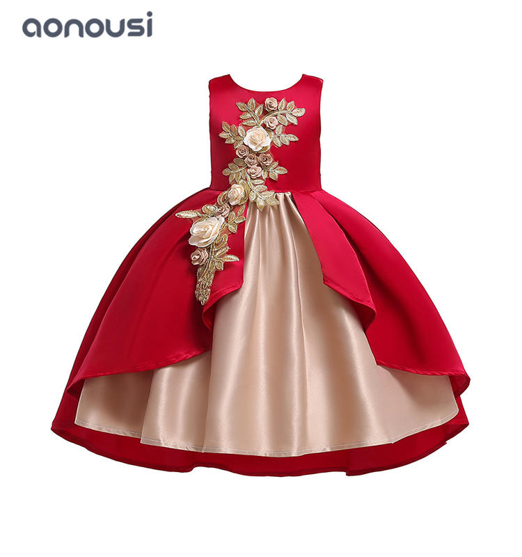 children evening dresses wedding flower dresses host piano performance high-end dresses girls wholesale