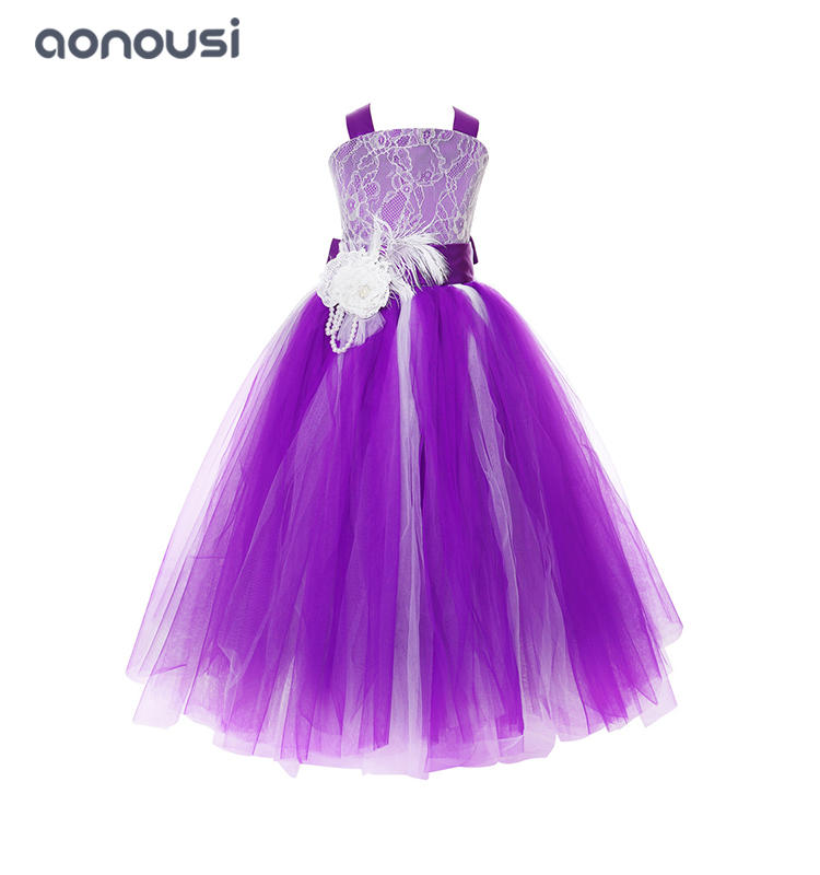 Princess dresses girls kids evening dresses host show party piano performance evening dresses girls wholesale