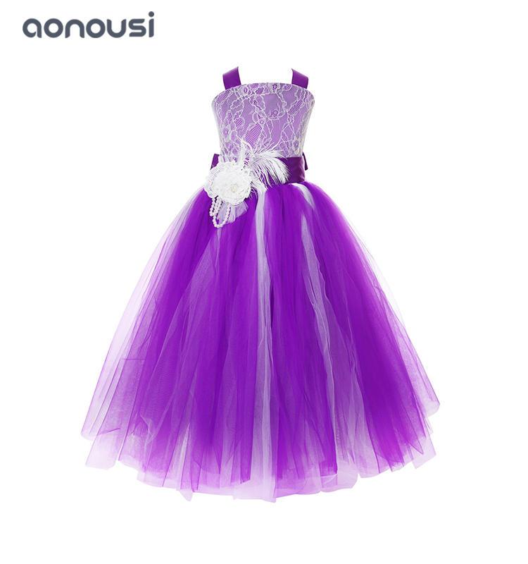 Princess dresses girls kids evening dresses host show party piano performance evening dresses girls wholesale