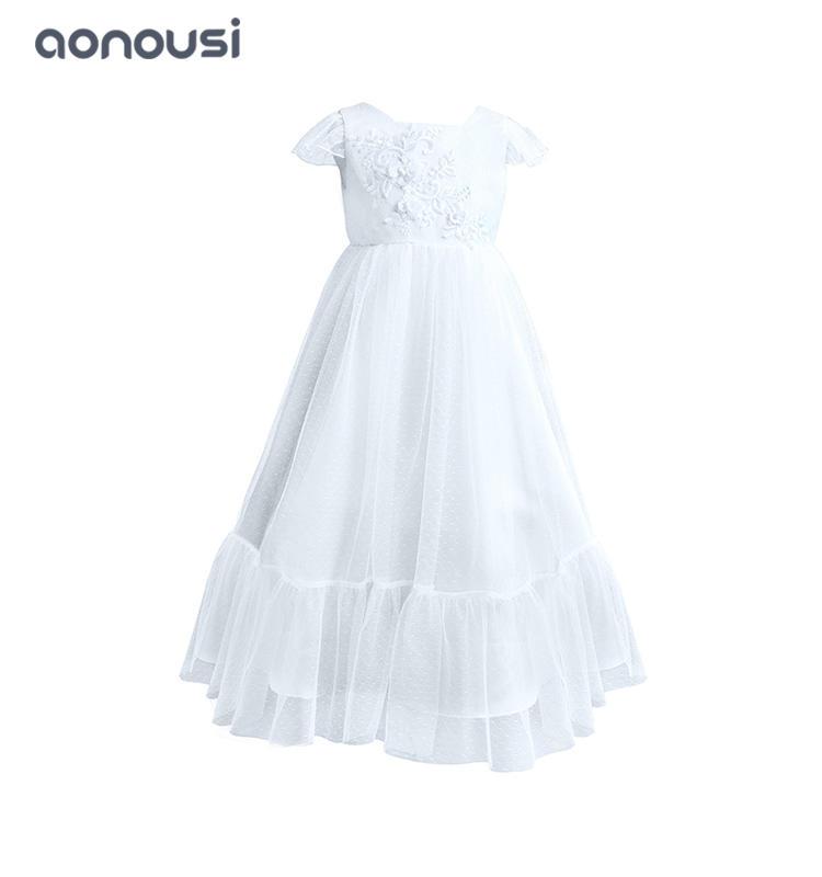 girl kids evening dresses summer temperament lace performance dresses wholesale girls dresses