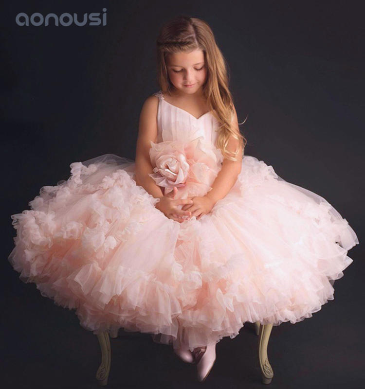 Girls kids summer princess dresses children pink evening dresses wholesale girls show dresses