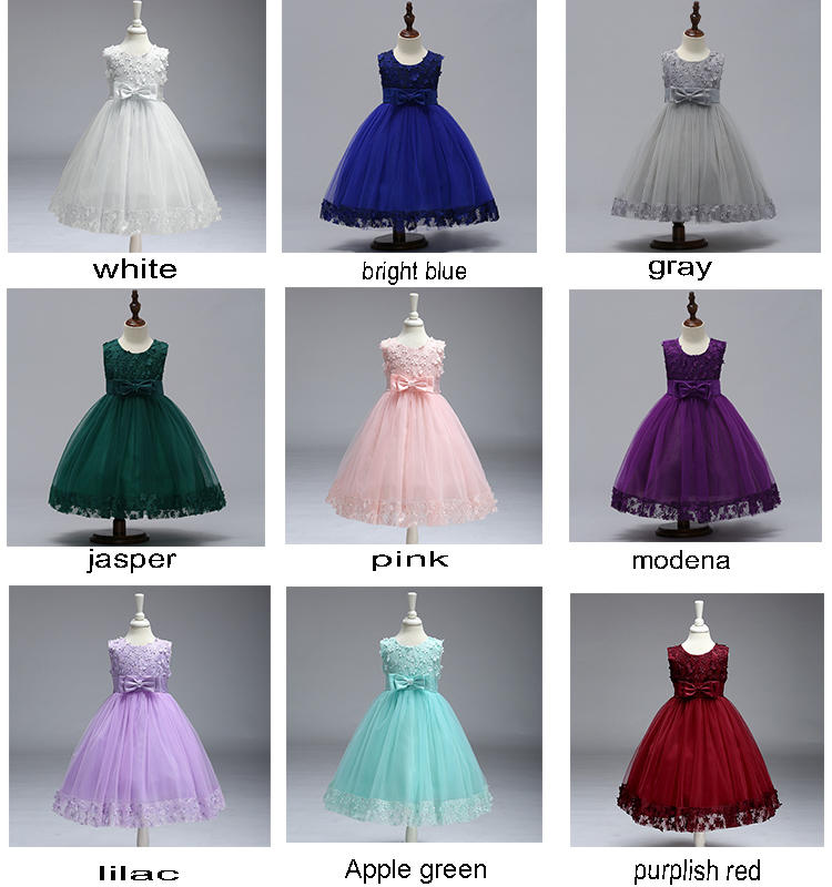 Girls evening dresses catwalk show piano performance dresses wholesale girls dresses