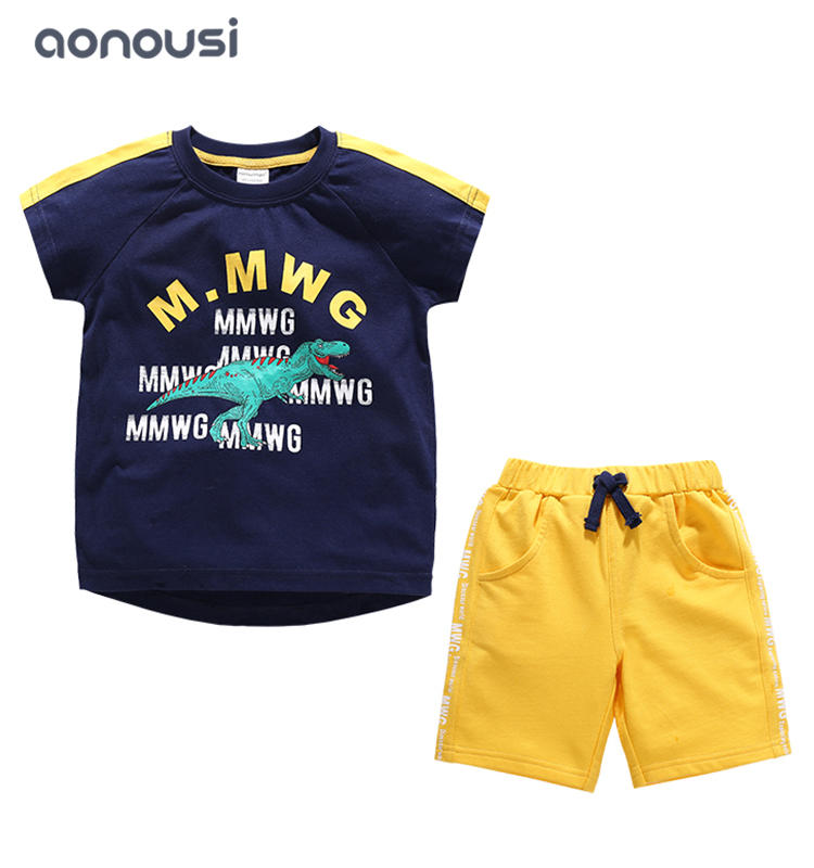 boy Summer suits 2019 new style Korean version middle big children handsome boy fashion clothing wholesale boys clothing