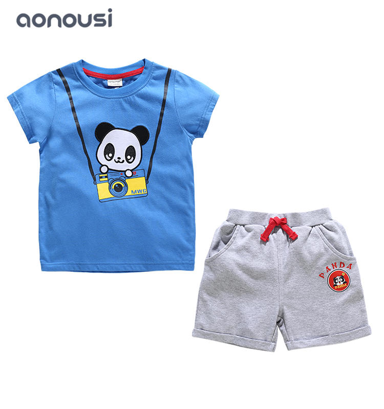Boys short sleeves sets summer 2019 new design children two pieces causal Korean version suits wholesale boys clothing