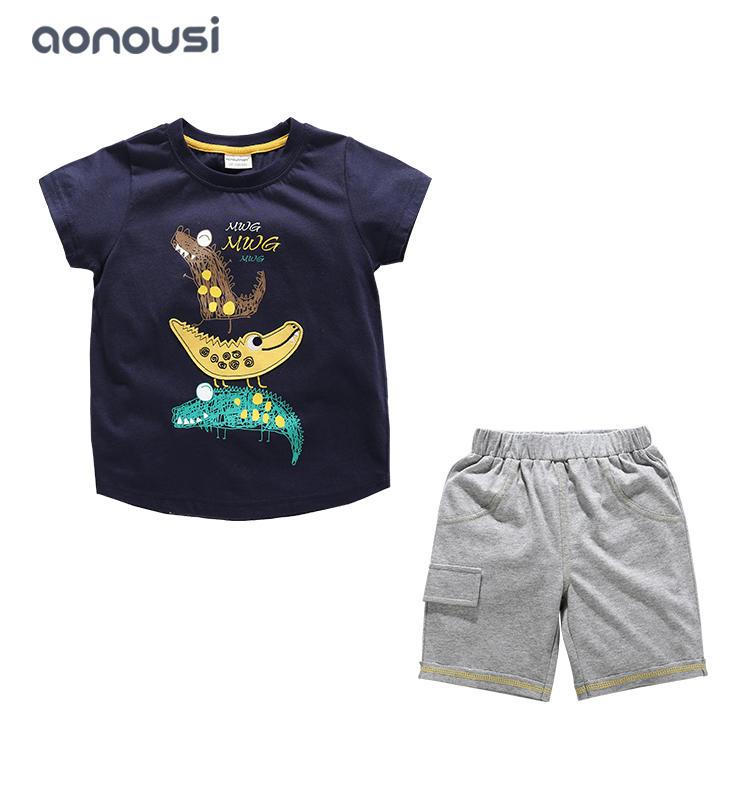 children clothing boy kids sets 2019 new style summer big kids boys fashion handsome suits wholesale boys clothing