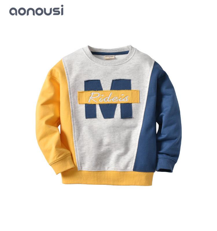 2019 Autumn Winter children suit Monochrome hoodie set long sleeves warm fashion suits wholesale suits for boys