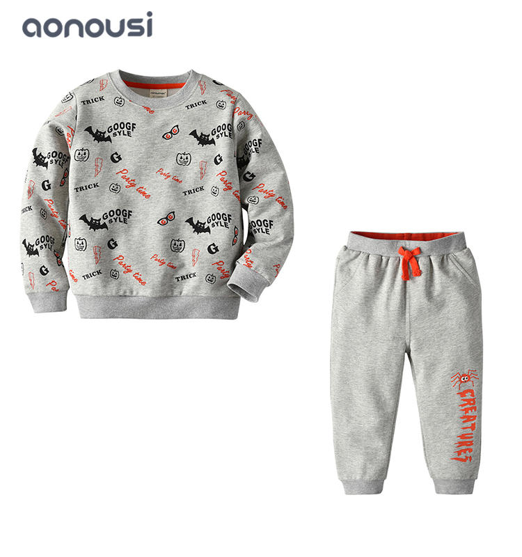 2019 new design Autumn boys clothing children cartoon bat suits fashion boys wholesale