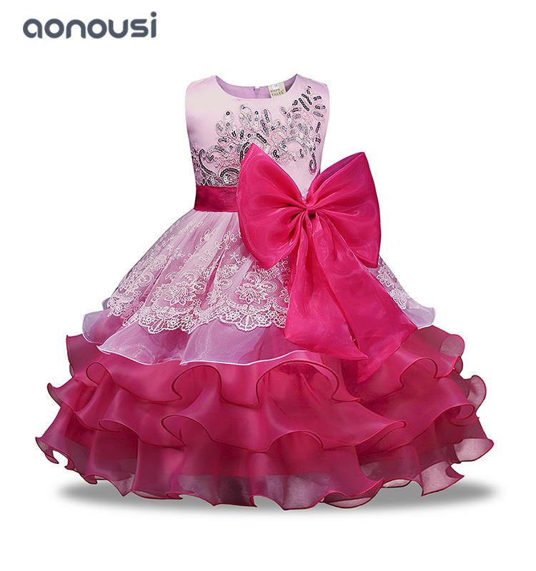 Princess dresses girls bubble lace evening wholesale girls  Performance dresses clothing
