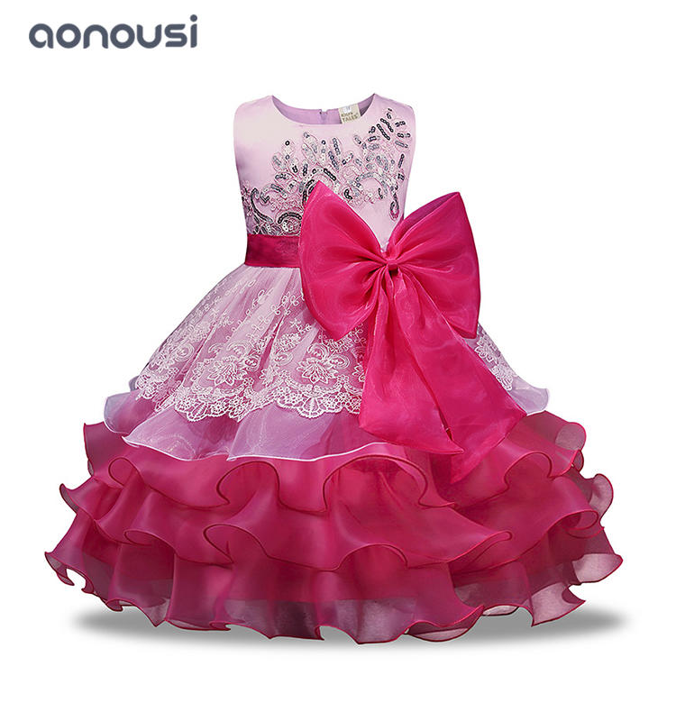 Princess dresses girls bubble lace evening wholesale girls  Performance dresses clothing