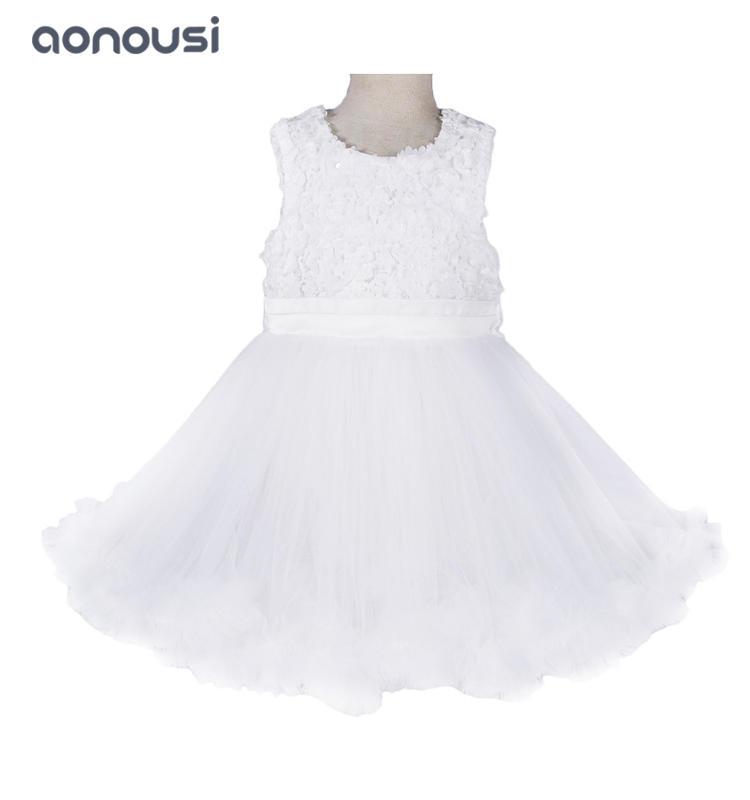 Girls kids evening wedding dresses white girls princesses dresses piano performance hosts girls fashion wholesale