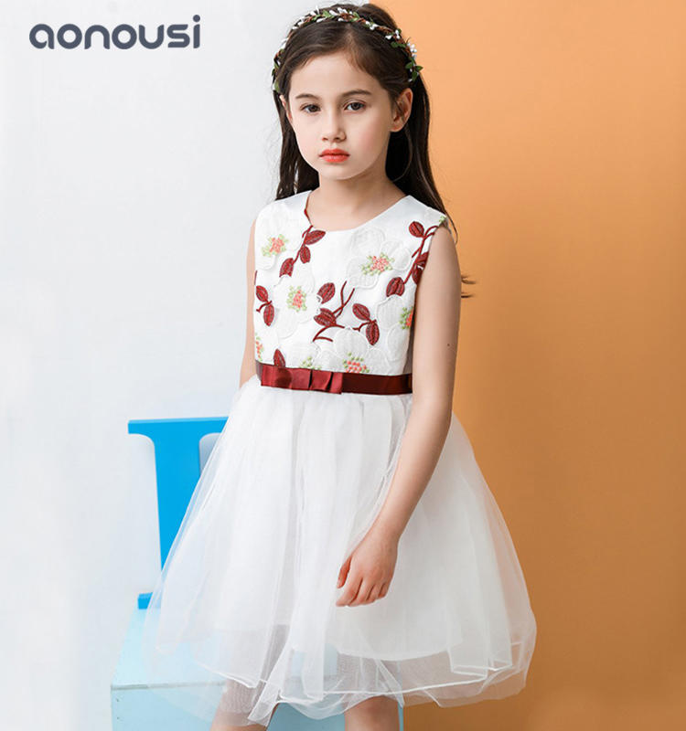 Summer dresses Europe America style girls kids floral dresses wholesale girls clothing suppliers