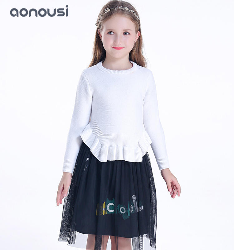 pullover sweater children 2019 new style knitted sweater kids girls top wholesale warm sweater