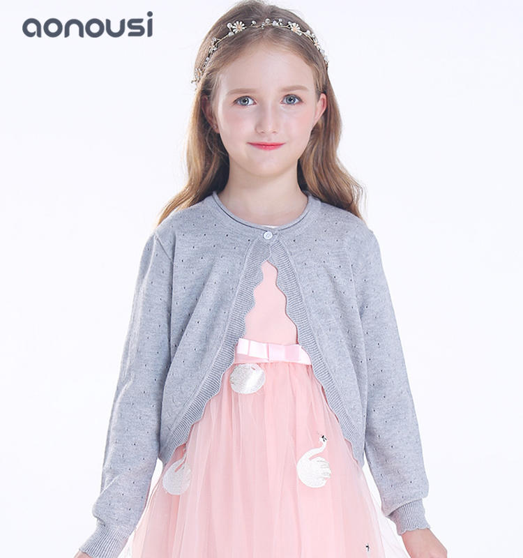 Sweater cardigan for kids Autumn winter long sleeves children sweater girls wholesale