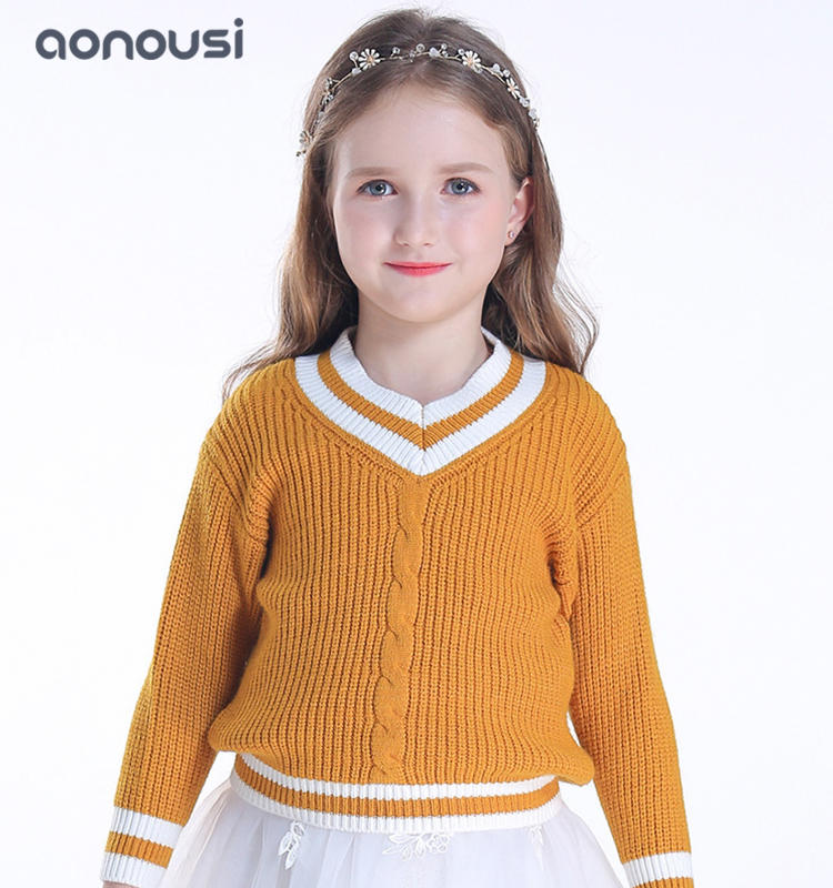 Girls pullovers sweater  children long sleeves warm peruvian sweater for children wholesale girls clothing china
