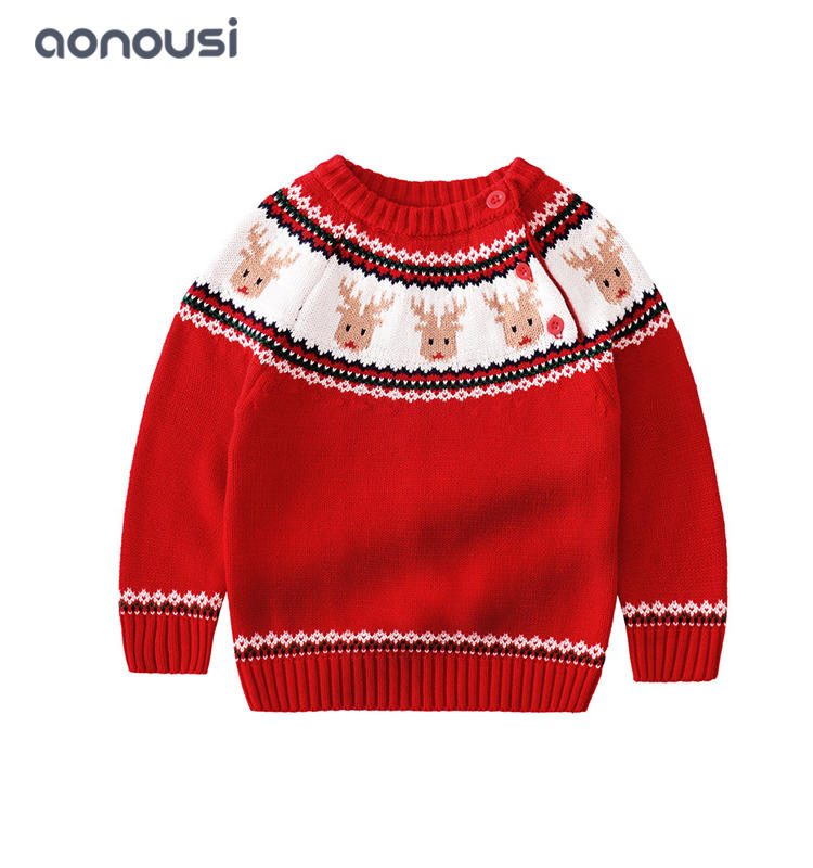 Children clothes ugly Christmas sweater peruvian children sweater boys wholesale