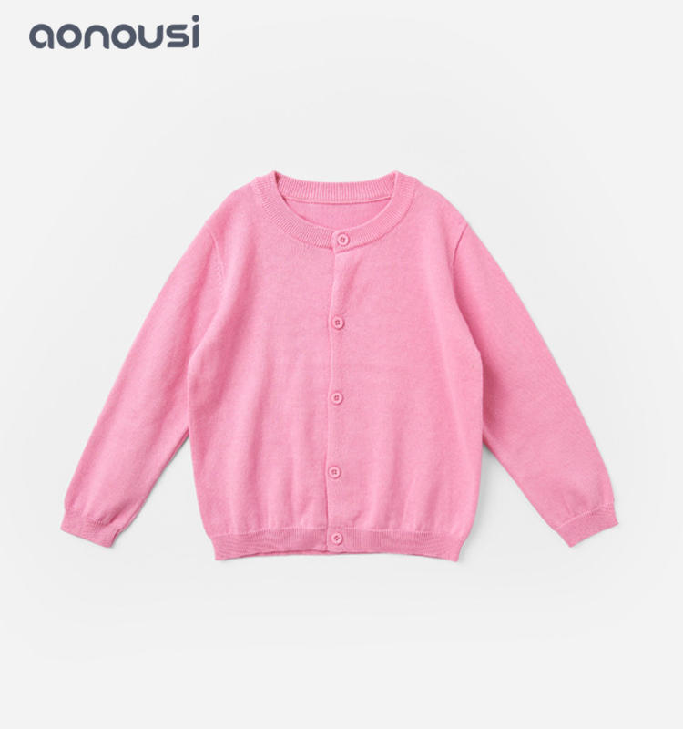 New design kids sweater cardigan girl cotton sweater candy color bulk buy girls clothes
