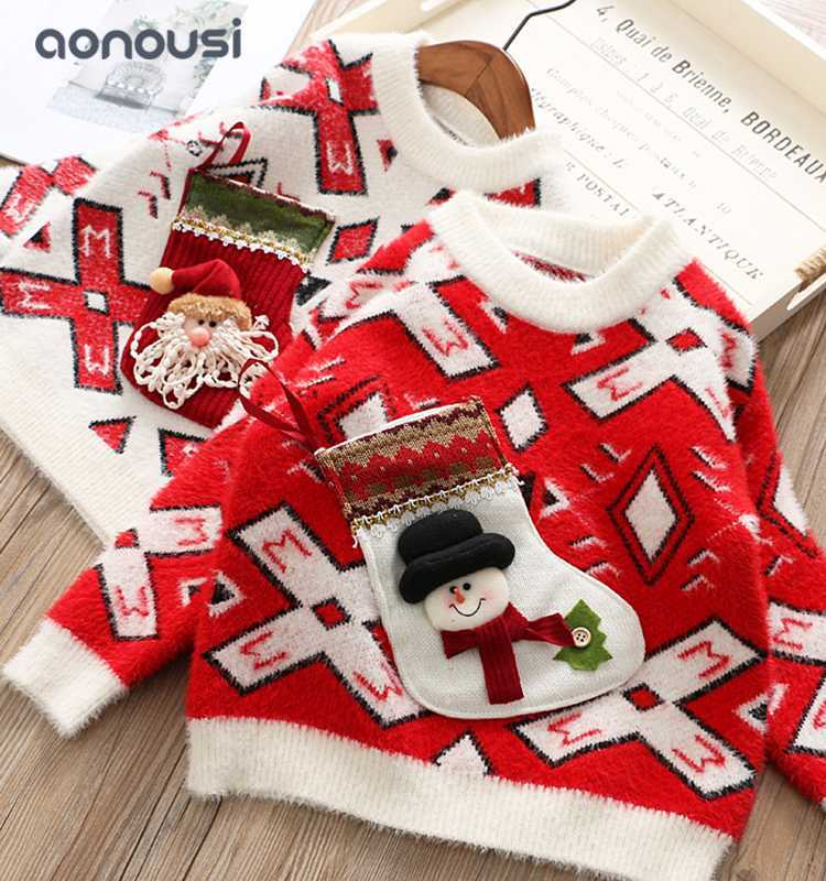 Girls clothes Christmas sweaters peruvian sweater for children girls top wholesale