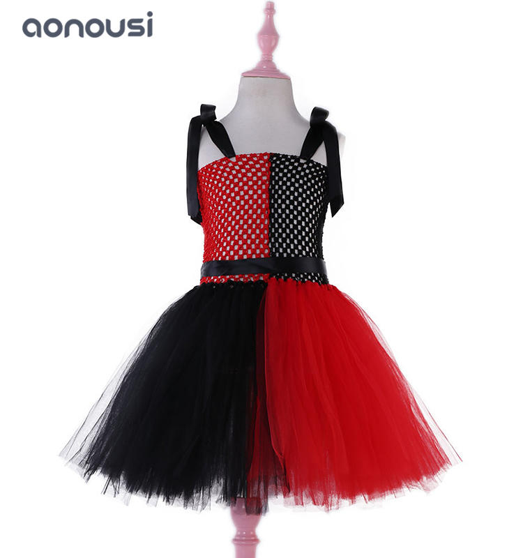 Wholesale girls dresses christmas skirt 2019 new style Harley Quinn Christmas performance dresses