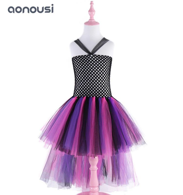 Children dresses Christmas lace purple bubble dresses for girls wholesale girls dresses