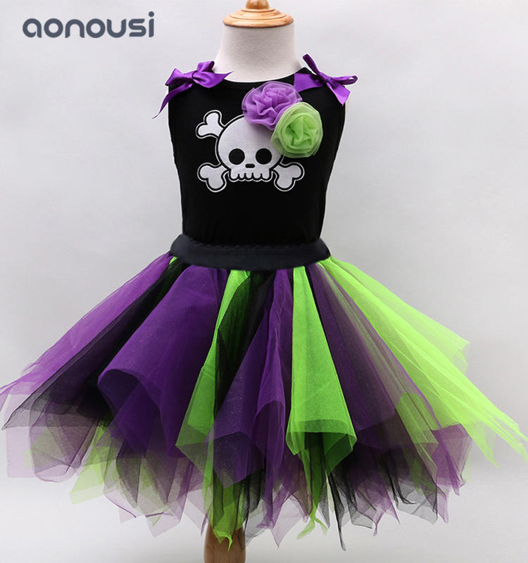 Halloween clothes 2019 new style Christmas dresses for little girls sleeveless  shirt wholesale girls boutique outfits