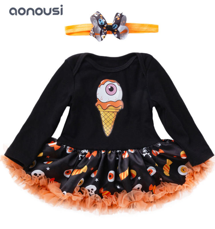 Halloween clothing long sleeves soft baby  christmas clothing  girls wholesale clothing supplier
