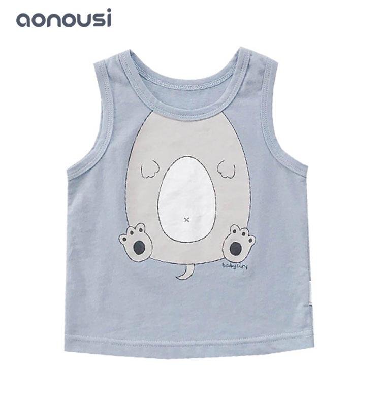 Children clothes  summer cartoon joker vest wholesale boys clothing girls sleeveless clothes