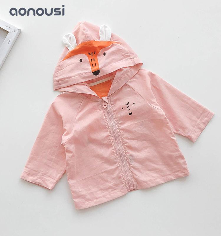 Children  clothes summer sunscreen coat cartoon hooded coat girls boys bulk clothing