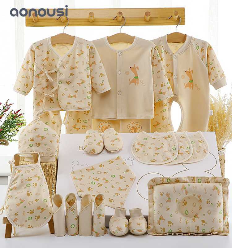 newborn gift sets baby hundred day clothes gift Autumn suits Wholesale children clothes
