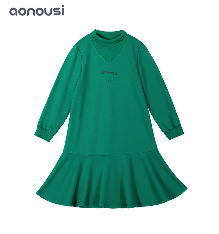 baby girl clothes Fashion  Autumn party dress girl long sleeves warm kids princess dress wholesale girls outfits
