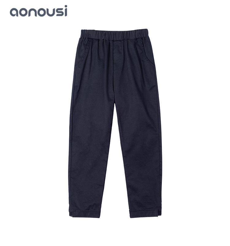 kids clothes black straight pants Korean version girls kids pants wholesale girls cotton children's clothing