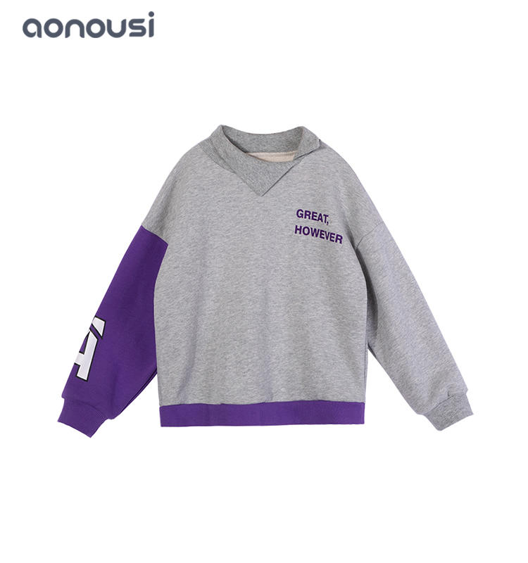 kids t shirts letter printing sweatshirt fashion Autumn pullover girls top wholesale