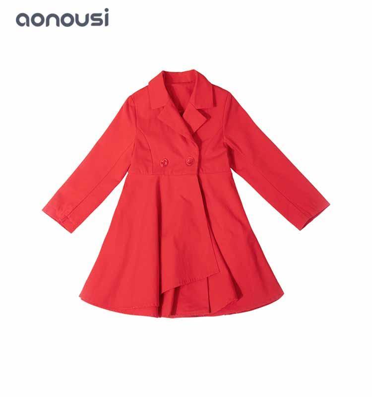 kids cotton dress girls suit coat dresses Korean version fashion kids clothes wholesale girl dress