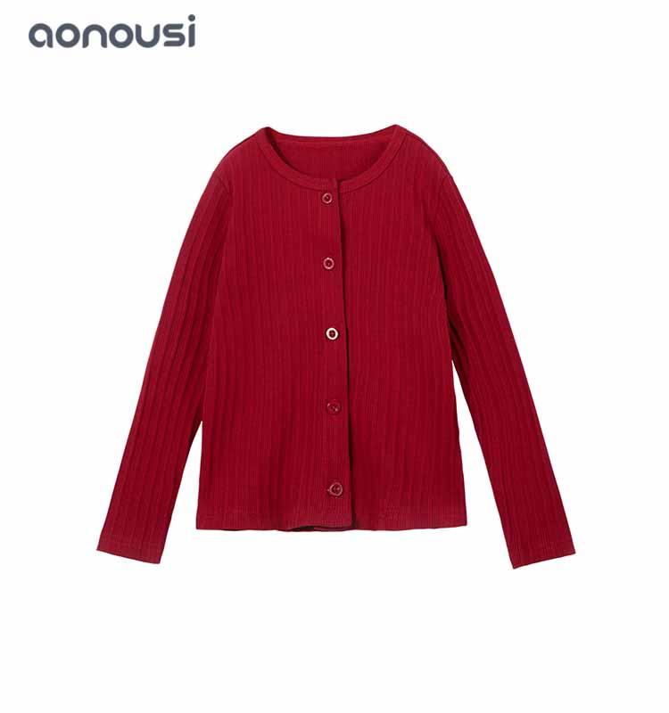 children sweaters Autumn winter Article pit girls coat candy color cardigan fashion kid clothes girls top wholesale