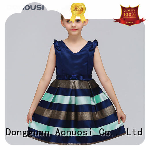 Aonousi designer party wear dresses for baby girl for kids