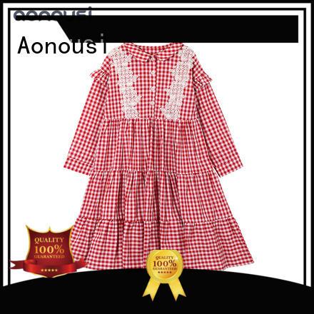 Aonousi lovely girls blue skater skirt Suppliers for kids