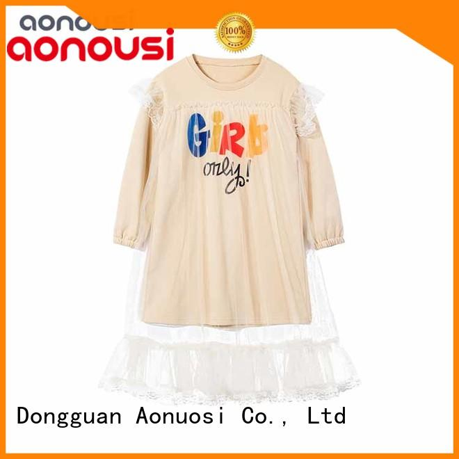 Aonousi newest custom made kids clothes for girls