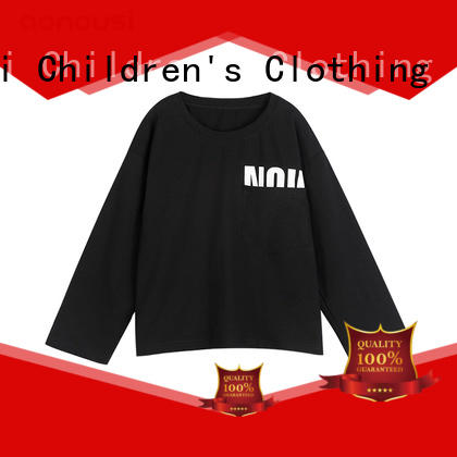 Girls kids long sleeves t shirt new style cotton thin girls top wholesale