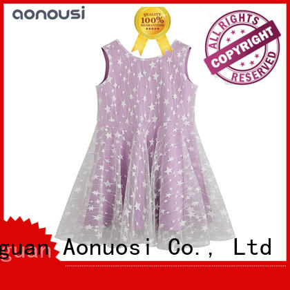 Aonousi New little girl formal dresses for business for girls