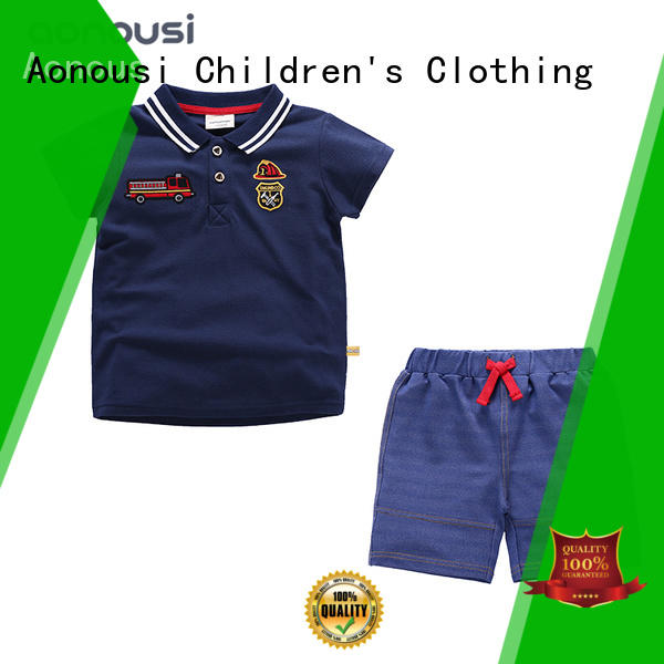 Custom boutique baby boy clothes wholesale kids Supply for boys