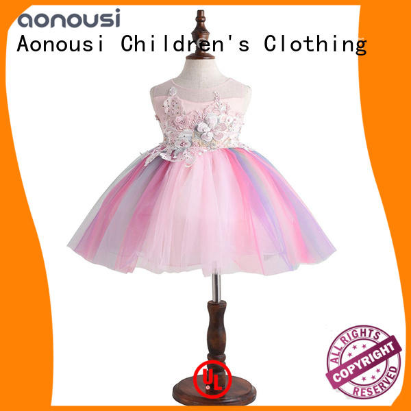 Aonousi stripes girls clothing wholesale free design for girls