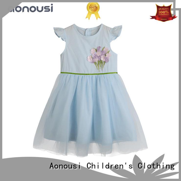 Aonousi bestselling children girl dress factory for girls