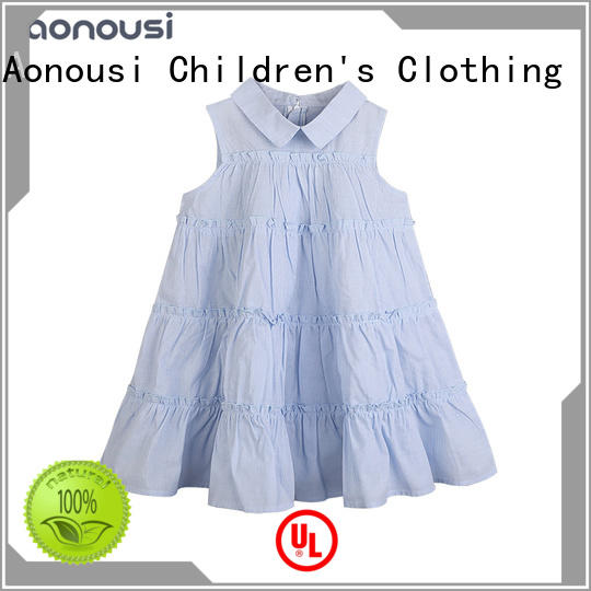 Aonousi apricot dress kids girl for business for girls