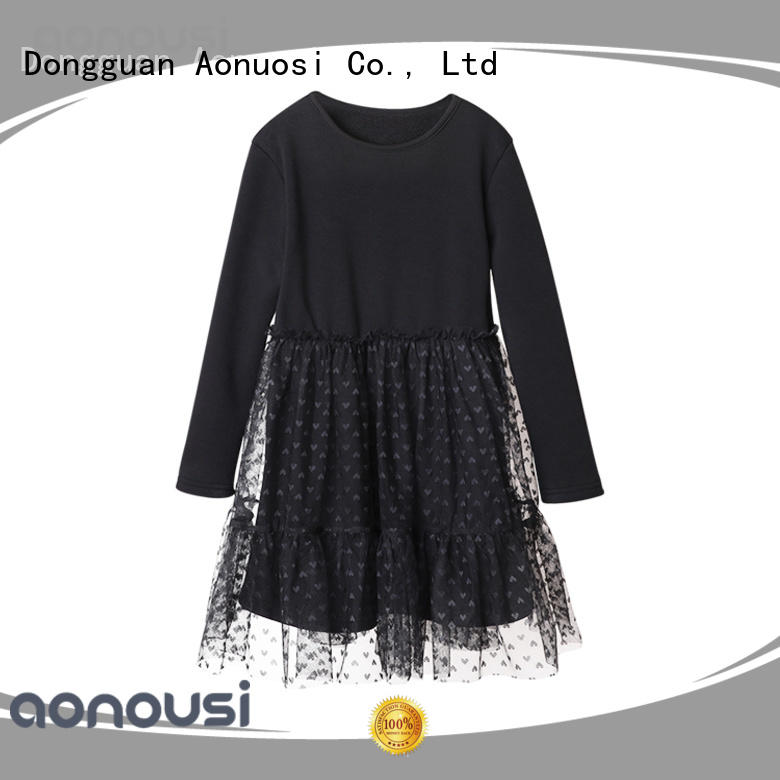 Aonousi red kids dress for girls factory for girls
