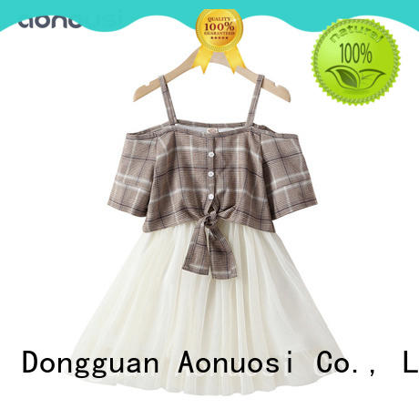 Aonousi kid girls boutique clothing bulk production for kids