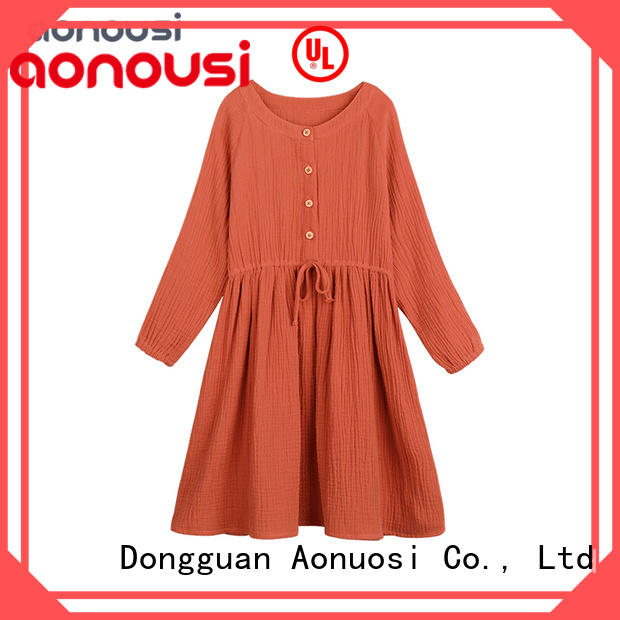 kids designer clothes lovely girl dress girls fashion wholesale Orange dresses long sleeves